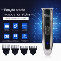 Kemei 2H Fast Charge Hair Trimmer Strong Power Clipper Haircut Machine Cutting Hair Men with 4 Limit Combs Stainless Steel Blade