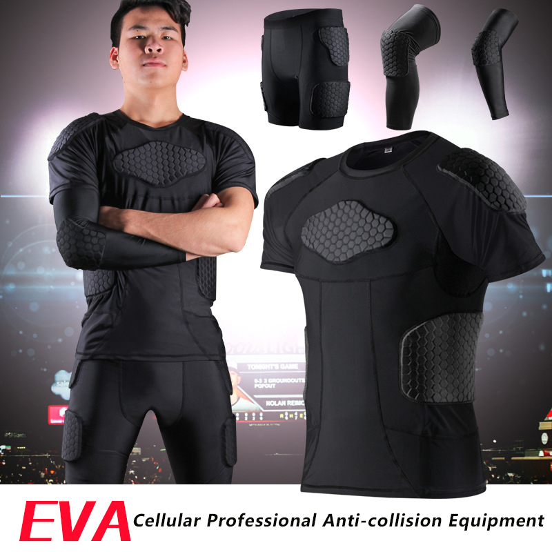 Sports Honeycomb Anti-collision Suit Anti Collision T-shirt Vest Basketball Rugby Safety Protective gear suit Collision parts