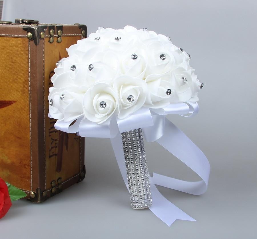 Zaatora Beautiful White Ivory Bridal Bridesmaid Flower Wedding ...