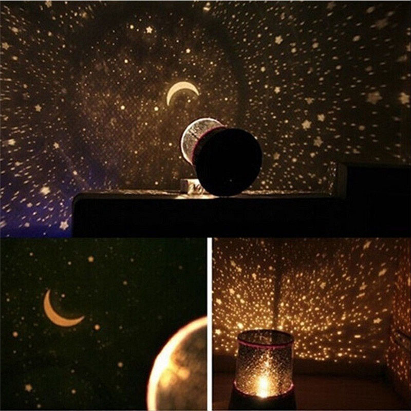 New Colorful LED USB Projection Lamp LED Night Light Projector Starry Sky Star Moon Master Children Kids Baby Sleep Romantic
