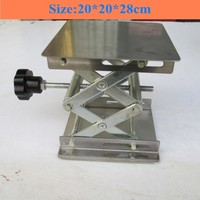 Stainless steel Small lifting platform Manual lift Tables 20x20x28cm