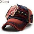 Xthree algodão marca moda bordados estilo antigo Boné de Beisebol casquette snapback chapéu para mulheres dos homens