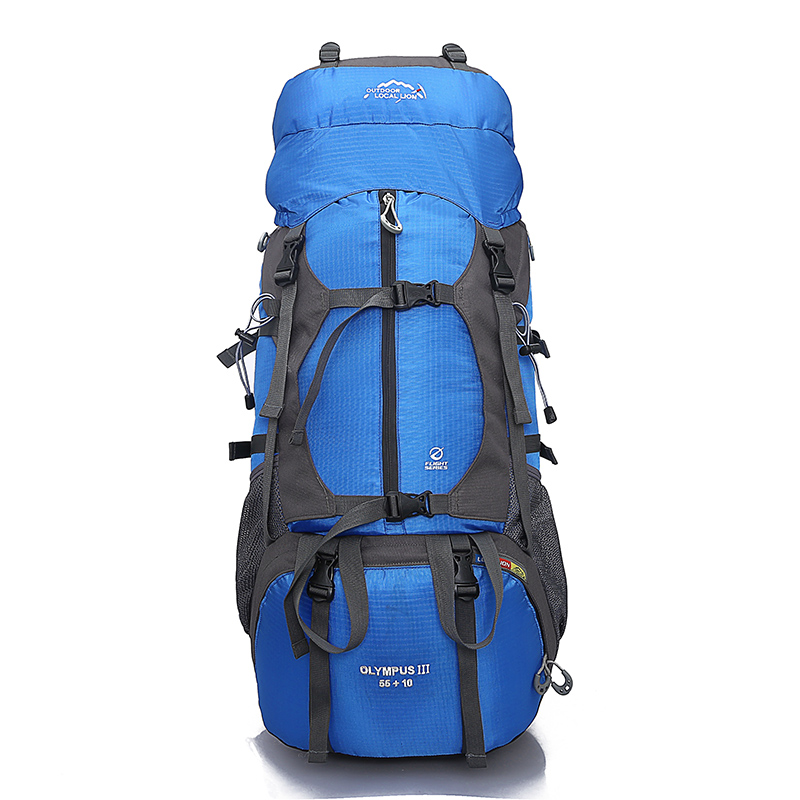 Outdoor Backpack 65L Waterproof Outdoor Hiking Backpack Climbing Trekking Camping Mountain Travel Bags Pack Knapsack Rucksacks 30l professional ipx6 waterproof climbing bags camping hiking outdoor sport backpack trekking bag riding cycling travel knapsack