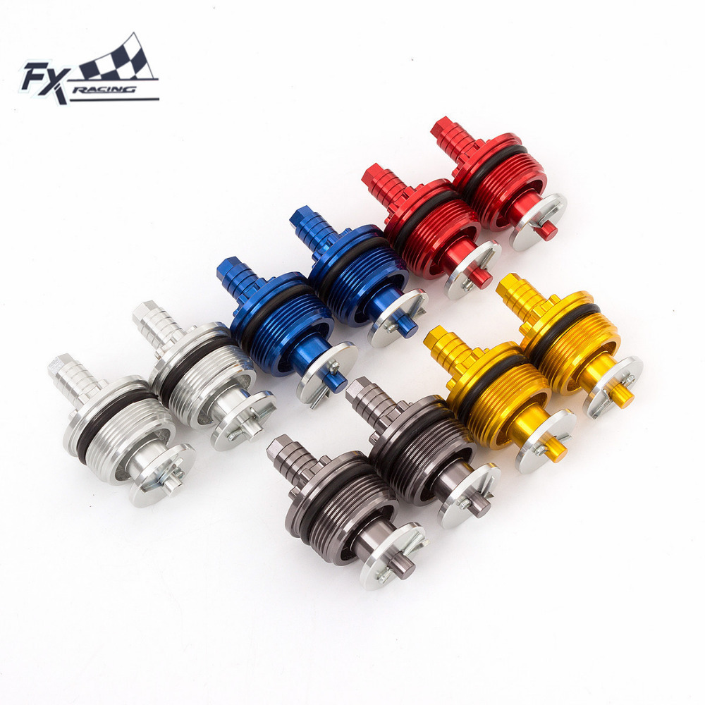 37mm X 33mm Pitch Thread CNC Universal Motorcycle Preload Adjusters Fork Bolts Moto Accessories