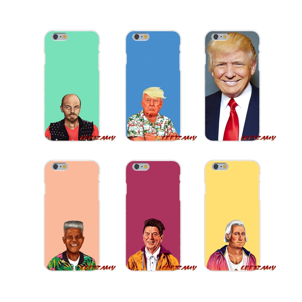 Donald Trump paintings of the world's leaders For Samsung Galaxy S3 S4 S5 MINI S6 S7 edge S8 S9 Plus Note 2 3 4 5 8 Phone Covers