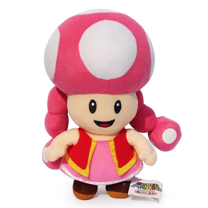 Free Shipping 17cm Super Mario Toad Cute Toadette Stuffed Plush Doll Toys