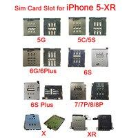 Innere Nano SIM Kartenleser Adapter für iPhone X XR 5 5 S 5C SIM Karte Tray Slot Sockel für iPhone 6 6 S 7 8 Plus Ersatz Teile-in SIM-Karten-Adapter aus Handys & Telekommunikation bei