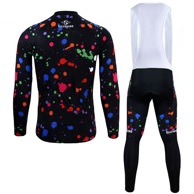 Siilenyond 2019 Winter Thermal Mountain Bike Cycling Clothing Long Sleeve MTB Bicycle Cycling Jersey Sets For Men 2