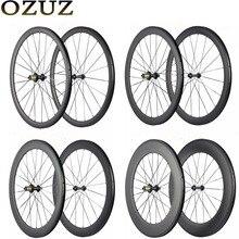 Заводская распродажа OZUZ 700C карбоновые колеса 24 мм 38 мм 50 мм 88 мм велосипедные колеса Clincher Трубчатые супер легкие шоссейные велосипедные карбоновые колеса