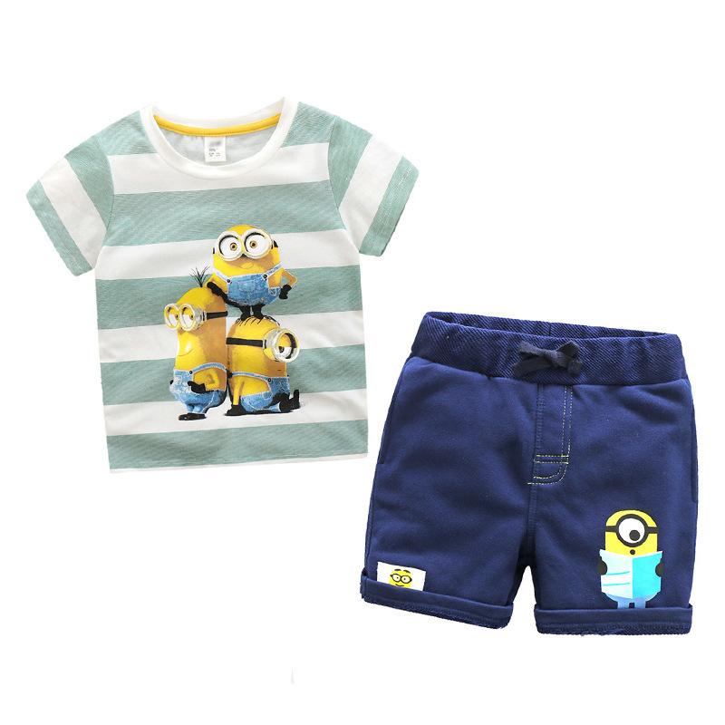 Striped Minions Children Clothing Set