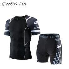 Высокое качество нового мужского бренда MMA спортивной одежды сжатия 3D печать быстросохнущие с коро