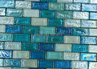 blue strip crystal glass mosaic tiles HMGM1117 backsplash kitchen wall tile sticker bathroom floor tile free shipping