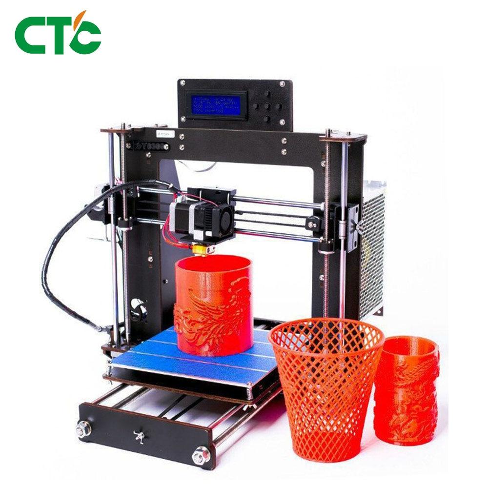 Prusa i3 Kit 3D Imprimante Bois Cadre Haute Précision Panne de courant Reprendre Impression Impressora-Europe navire de L'allemagne