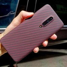 Aramid fiber Back Cover For OnePlus 7 Pro 보호 케이스 7T 8 nord 탄소 케이스 및 커버 나일론 범퍼 공식 디자인