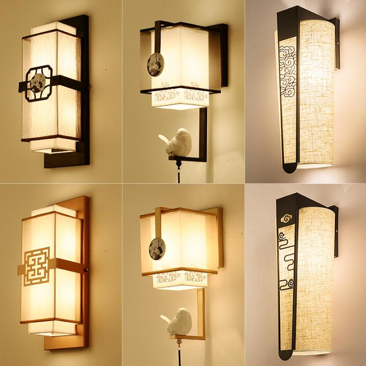 Modern new wall lamp hotel bedroom bedside lamp living room aisle corridor iron wall lamp, E27 / E14. the new chinese iron wall lamp bedside lamp wall lamp rectangular chinese bedroom living room antique hotel wall light