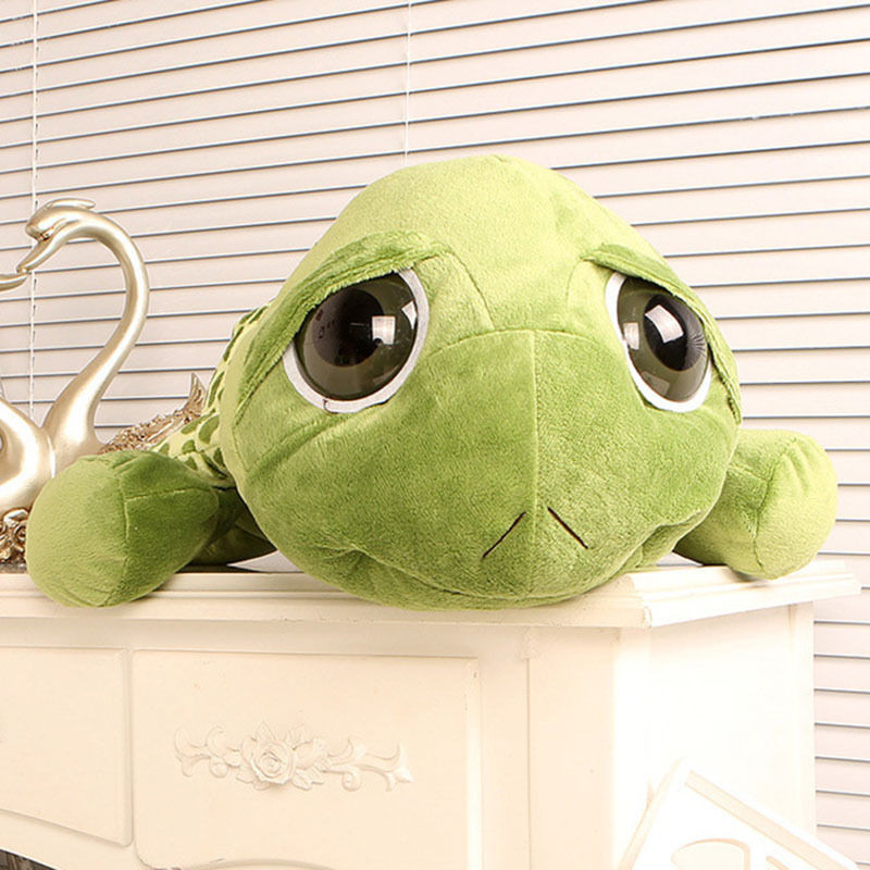 20cm Stuffed Plush ცხოველები Super Green Big Eyes - პლუშები სათამაშოები - ფოტო 3