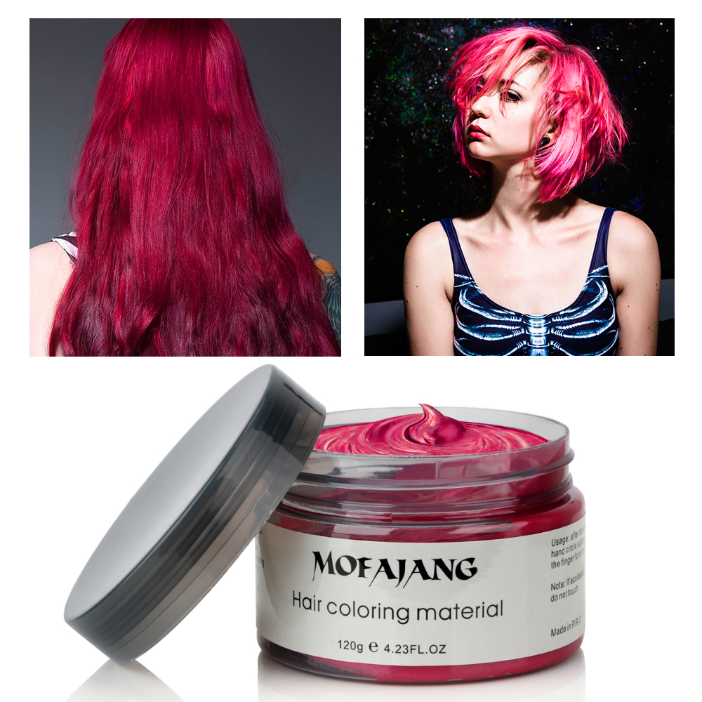 Color Hair Wax Styling Pomade Silver Grandma Grey Temporary Dye Disposable Fashion Festival Celebrate Molding Coloring Mud Cream 5