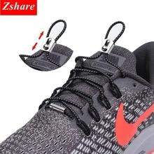 1Pair Reflective No Tie Shoelaces Elastic Locking Shoe Laces Kids Adult Quick Sneakers Round Lace lacet chaussure