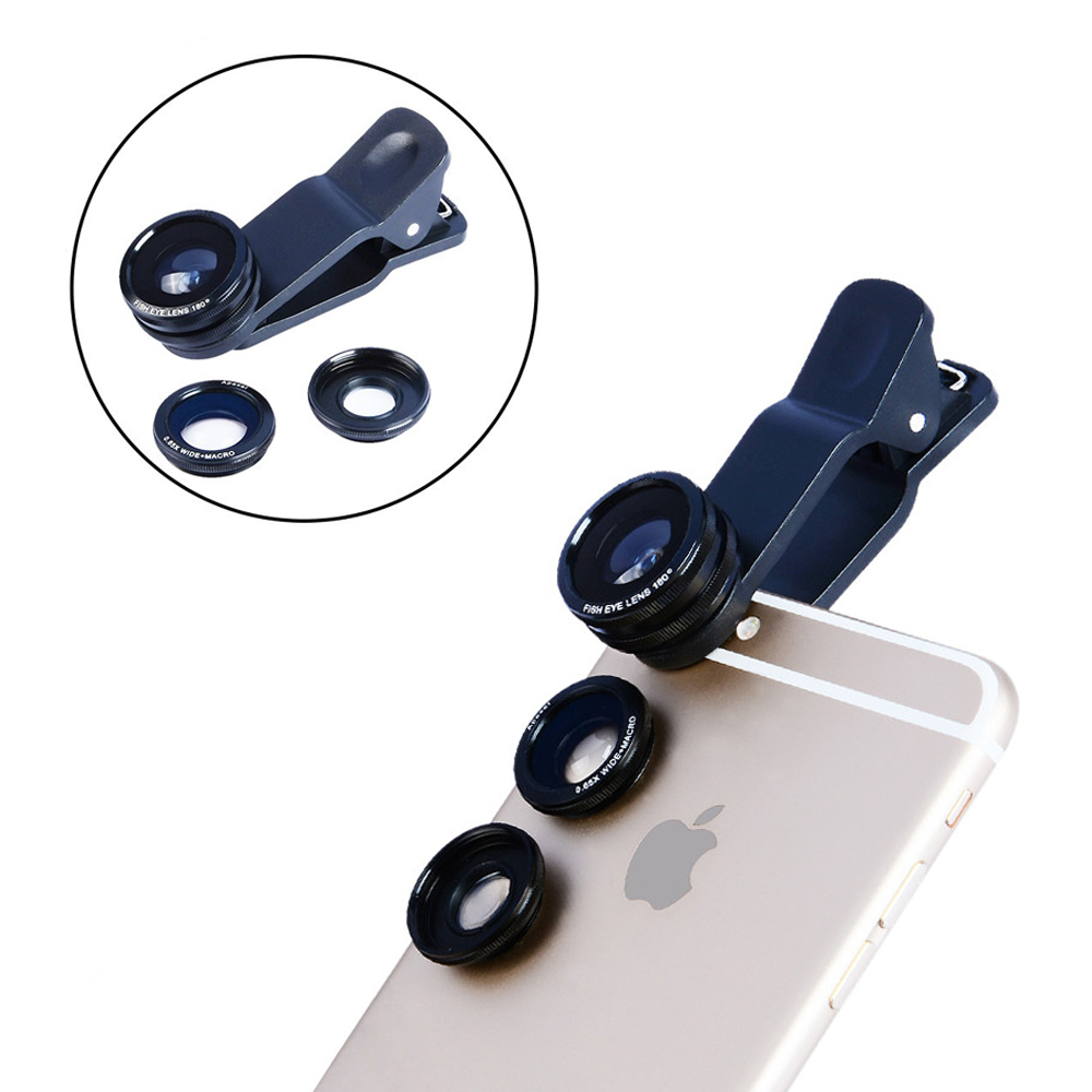 2017 Camera Lens Kit 50X Métal Téléobjectif Zoom Lentes Pour iPhone 7 6 6 s Plus 5 5S SE 4 4S Samsung Fisheye Grand Angle Macro lentilles - 3
