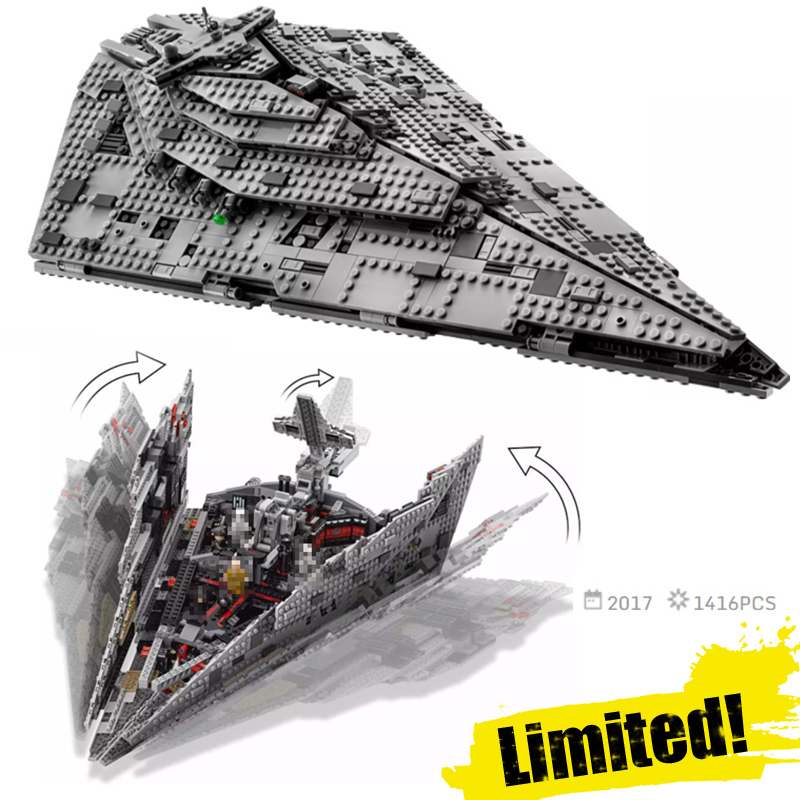 LEPIN 05131 05130 05042 AT-AT First Order Star Destroyer Clone Wars Building Blocks Bricks Toys Compatible with legoINGly 75190 new 845pcs star wars first order transporter model building blocks bricks toys compatible with legoingly starwars children model