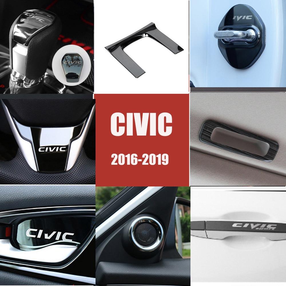 Car Interior Modification Decoration Patch For Honda 10Th CIVIC 2016 2017 2018 2019 Central Control Decorative Frame Sticker