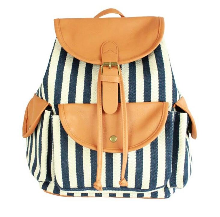 b02fc3964a4f5 Stacy torba gorąca sprzedaż najlepiej sprzedających kobiety navy paski  drukowania plecak torby płócienne torby podróżne