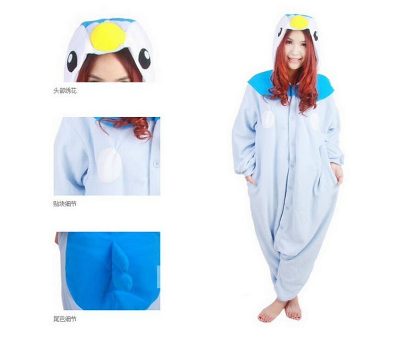 7a76ccaa8fa Pokemon Go Piplup Onesie Pattern Animal Jumpsuit Costume Sleepwear Adult  Fleece Pajamas on Aliexpress.com