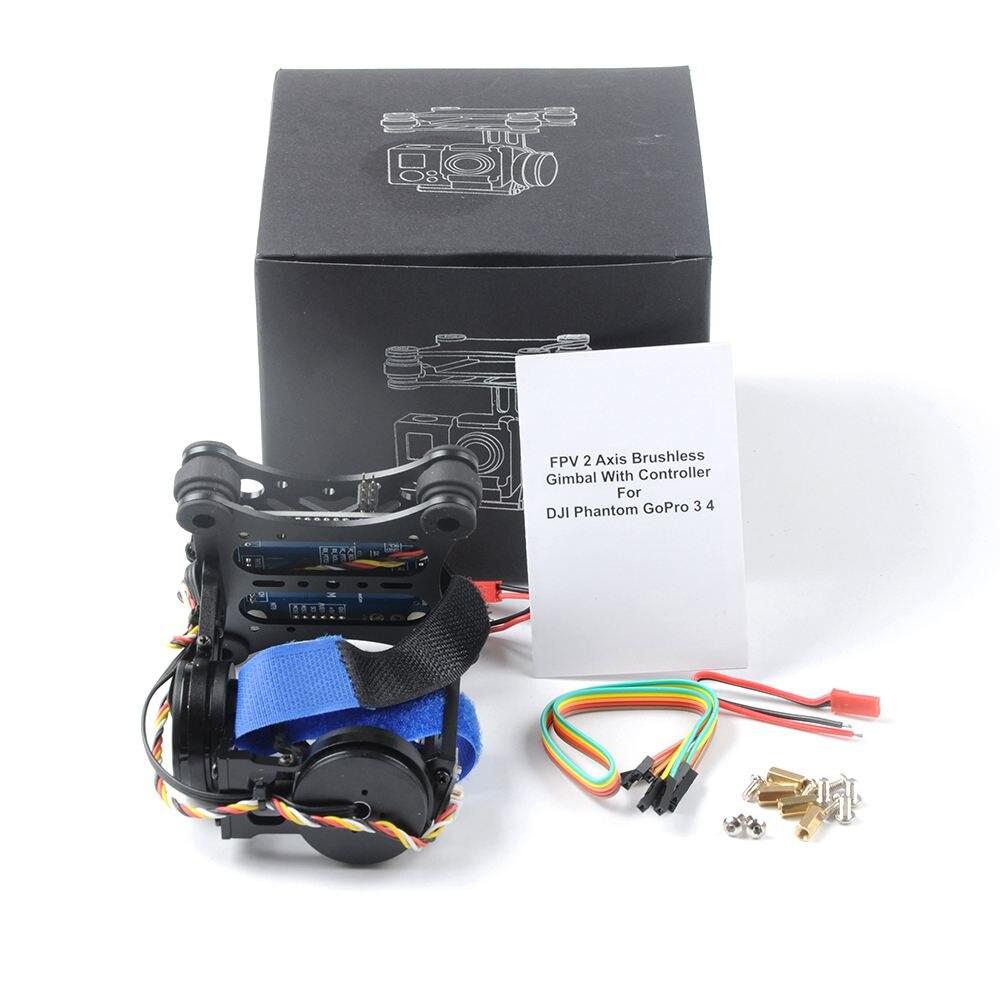 2 оси 2D бесщеточный Камера Gimbal для Gopro SJCAM XIAOMI YI Action Камера Экен F450 F550 S500 FPV Drone Multirotor quadcopter