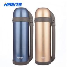 Haers thermos del frasco de vacío con la botella 1800 ml botella térmica hg-1800-3 metálica con aislamiento termo de viaje de acero inoxidable drinkware