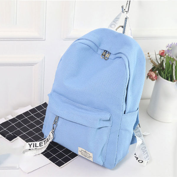Student Fashion School Shoulder Bag Women Canvas Letters Printing Backpack Travel Rucksack Lady Girls Casual Backpacks FA$3