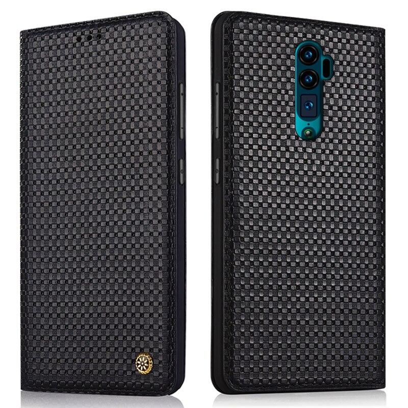 Genuine leather magnetic mobile phone case for OPPO Reno/RX17 Neo/RX17 Pro/Realme 3 pro/Realme x phone bag case stand case