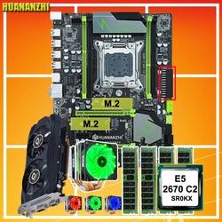 HUANANZHI X79 برو اللوحة مع المزدوج M.2 NVMe SSD فتحة GTX750TI 2GD5 وحدة المعالجة المركزية إنتل زيون E5 2670 C2 6 أنابيب برودة RAM 32G (4*8G)