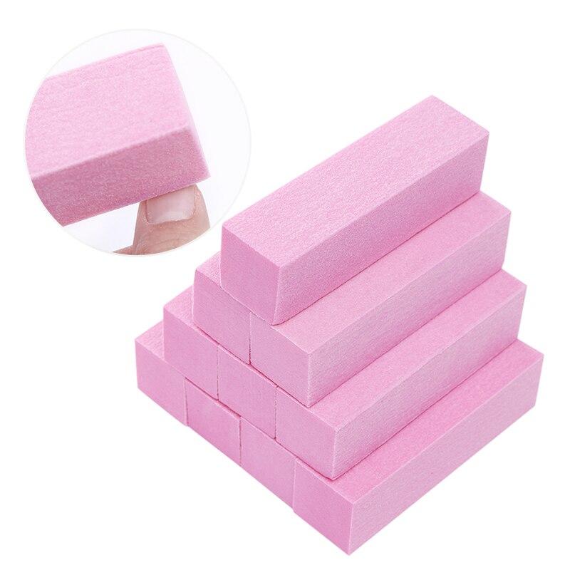 Pink White Nail Files Set Sanding Sponge Nails Buffers Block Grinding Polishing  Nail Art Tools Kit Accessory 4Pcs 10Pcs