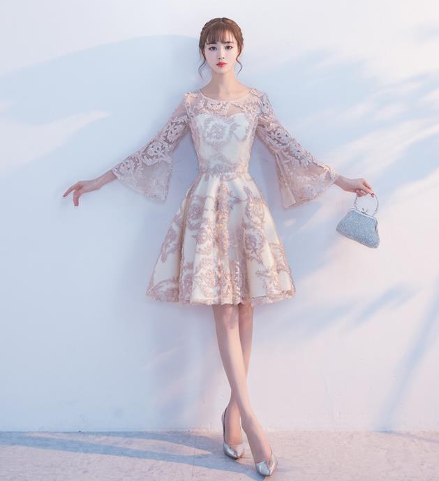 Evening Dress Female 2019 New Korean Version Party Party Dress Sweet Princess Student Party Dress Bridesmaid