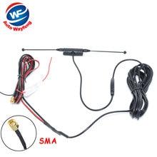 DVB-T ISDB-T Aérea Antena Del Coche Antena de TV Digital con Amplificador Booster conector SMA 5 M + Envío Libre