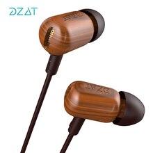DZAT DF10 HIFI Fones De Ouvido Esporte Fone de Ouvido Noise Isolando In Ear Fones De Ouvido Fone de Ouvido com Microfone para o telefone Móvel Universal para iphone