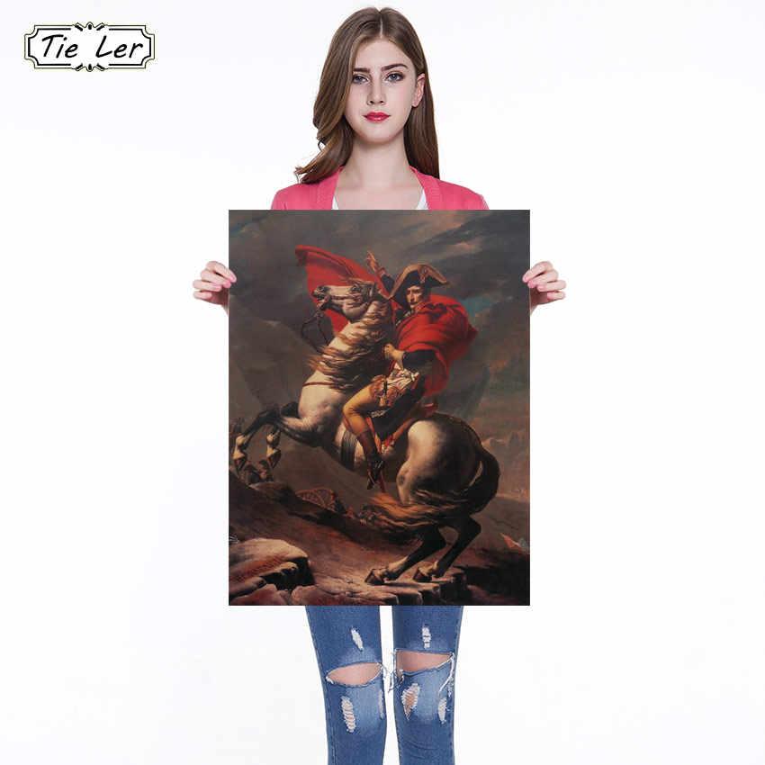Personaggi famosi Napoleone Pittura A Olio Classica Wall Sticker Poster Bar Retro Poster Pittura Decorativa 51x36 centimetri