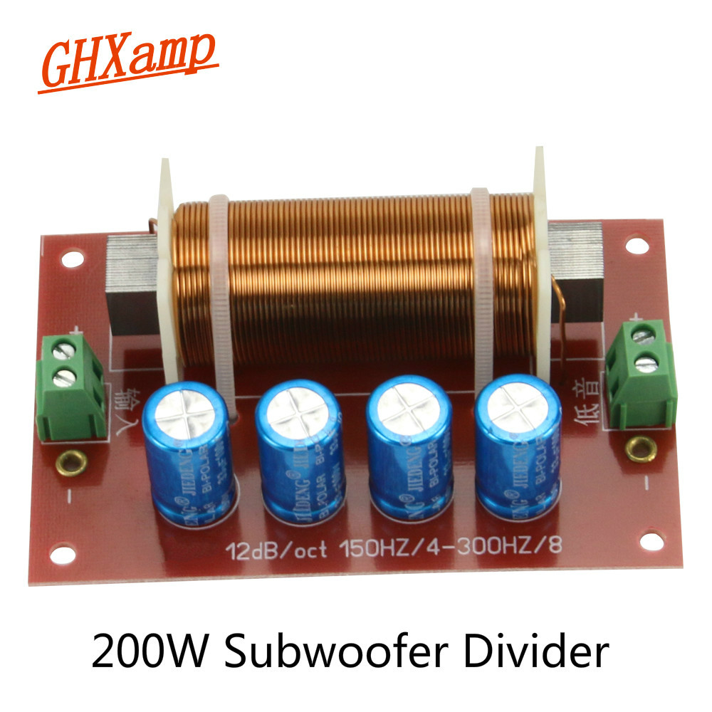 Pcb Subwoofer Frequency Adjust Audiophile T Circuit 200w Leach Amplifier Ghxamp 400w Speaker Crossover Audio 1 Way Filter Divider Bass For 10