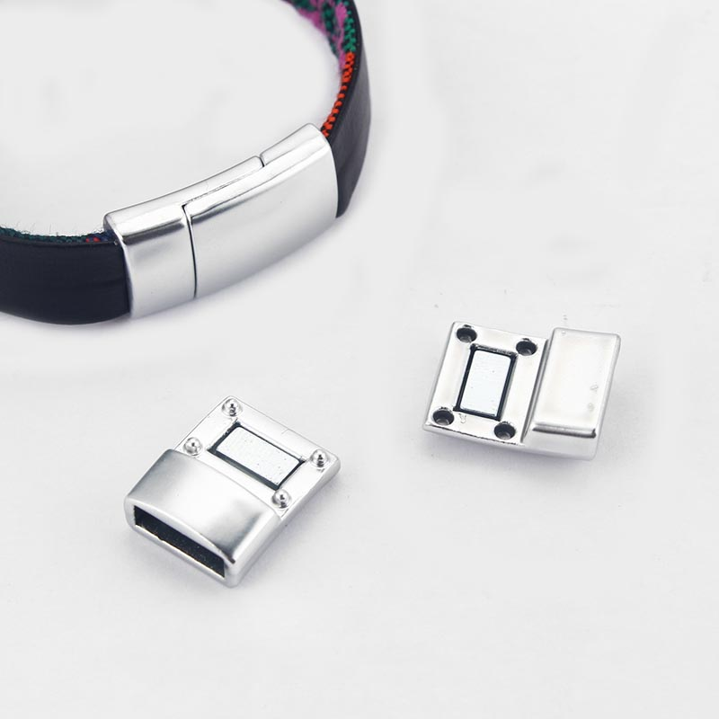 5Sets Bent Tube Magnetic Clasp Fit 6mm Round Leather for Jewelry Bracelet Making