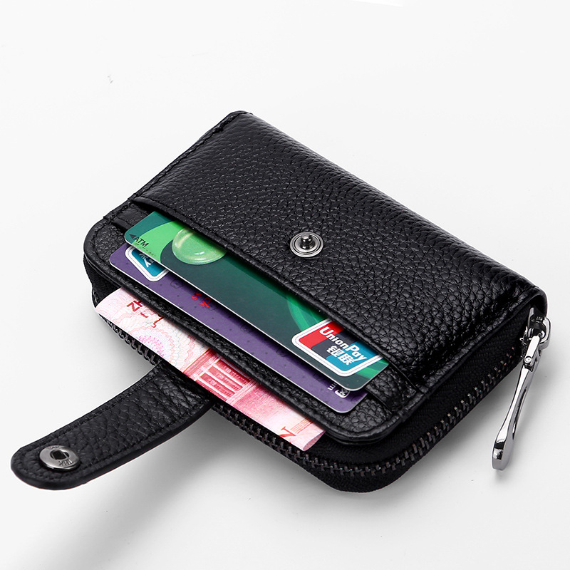 New Unisex Credit Card Holder Leather Women Men Small Mini Hasp Clutch ID Credit Card Business Coin Money Holder Case