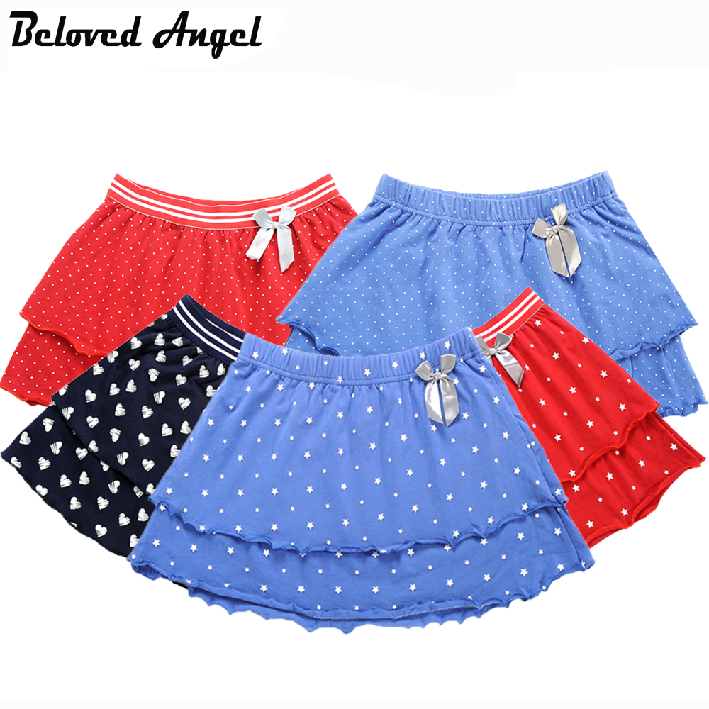 Girls Skirts Summer 5 Style Cotton Double Layer Baby Girl Kids Princess Tutu Skirt Child Casual Clothing Dance Party Wear Skirts