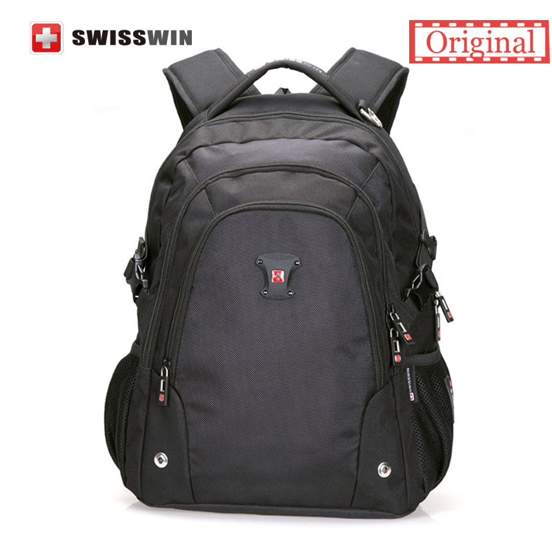 Swisswin Backpack School Bag Casual Waterproof Business Backpack Bag swissgear wenger 15 inch Laptop Bag Men Travel Bags Mochila swisswin black business backpack sw9218 male swiss 15 6 computer swissgear wenger bag 23l mochila