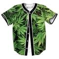 Ropa de los hombres OUTWEAR Jersey overshirt camisa sudor 3D DRASS VERDE gorra de béisbol de IMPRESIÓN con Un Solo Pecho camisa de MANGA CORTA
