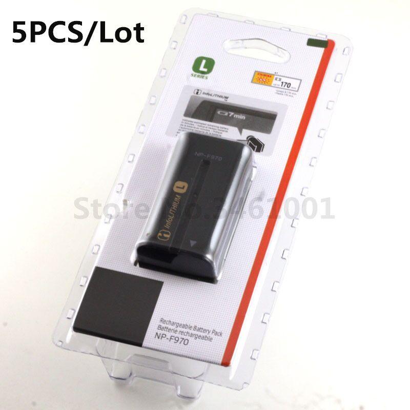 5pc lot NP F970 NPF970 Batteries For SONY F930 F950 F960 F770 F570 CCD RV100 TRV58