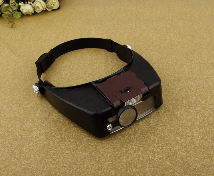 1.5X 3X 6.5X 8X Helmet Magnifier Magnifying Glass Lens Loupe with LED Light Jewel Repair YB470-SZ 3x magnifying magnifier