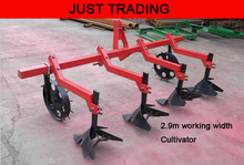 2.9m working width,middle size cultivator,3 rows ridger