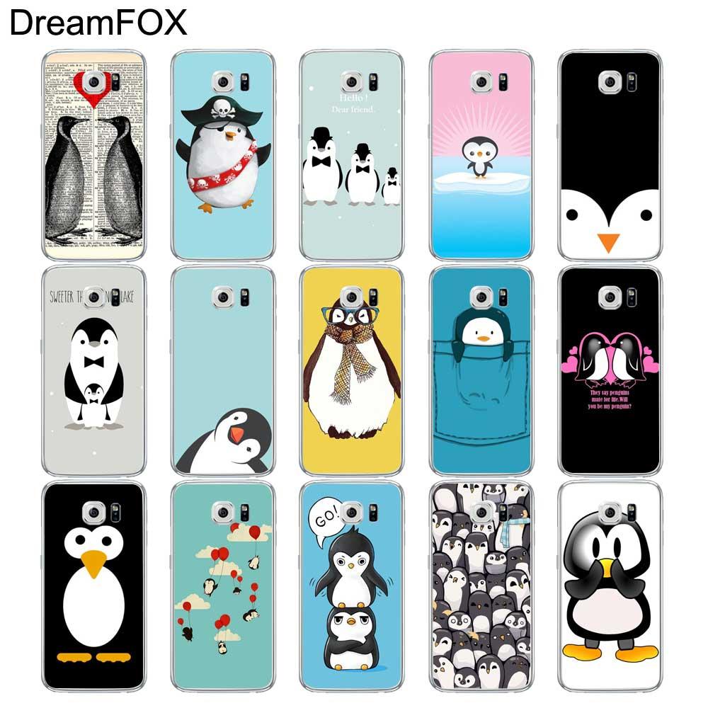 DREAMFOX L221 Penguin Soft TPU Silicone Case Cover For Samsung Galaxy Note S 3 4 5 6 7 8 9 Edge Plus Grand Prime