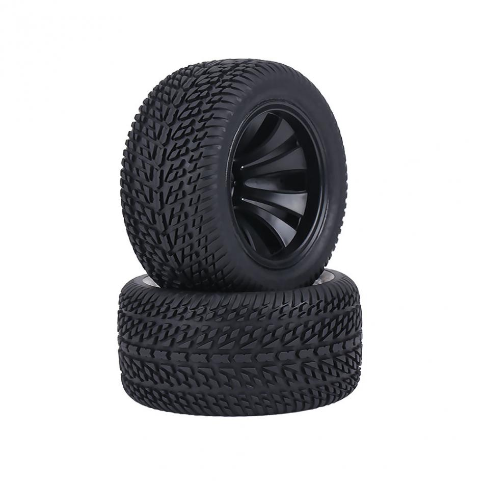 2pcs/set 1:12 RC Racing Tires with Hubs Rubber Tyre Tires