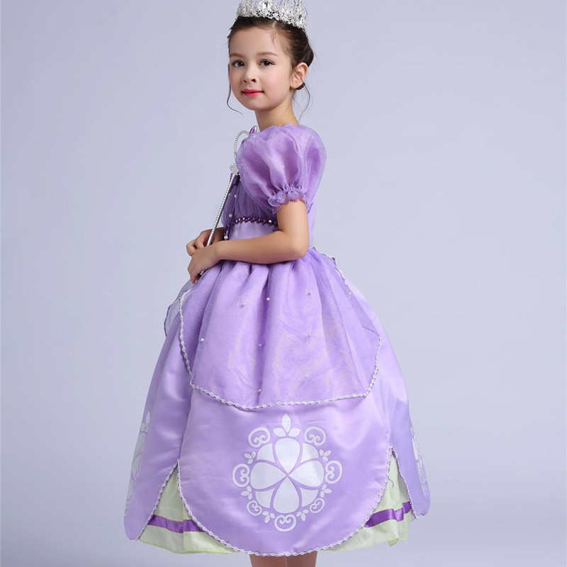 Kids Girl Princess Sofia the First Costume Halloween Cosplay Fancy ...