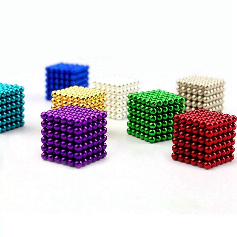 5mm 216pcs Magnet Balls Creative NdFeB Colorful Magic Beads 3D DIY Buck Balls diy 5 x 5mm cylindrical ndfeb magnet silver 20 pcs
